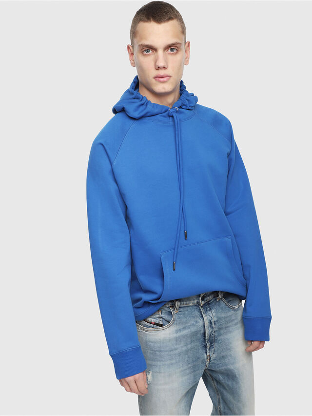 Diesel - S-GIM-HOOD-A, Brilliant Blue - Sweatshirts - Image 1