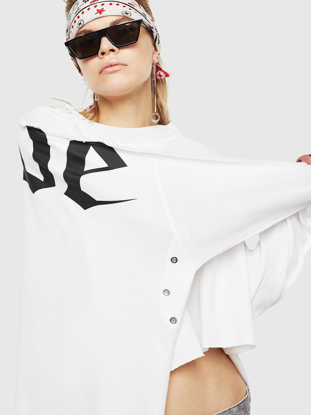 Diesel - F-ZOIE, White - Sweatshirts - Image 4