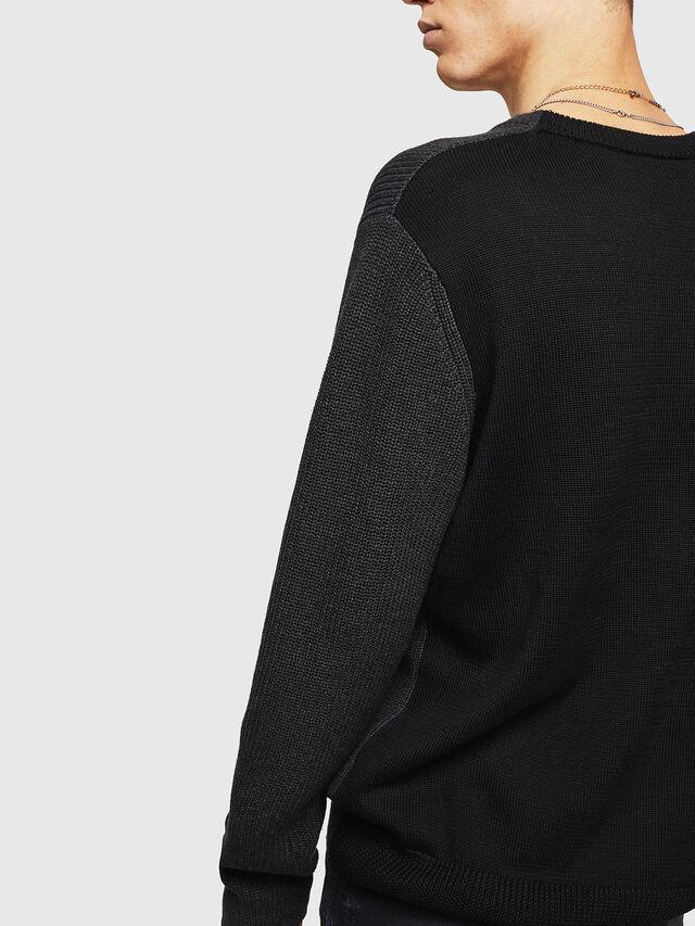 Diesel - K-HALF, Black - Sweaters - Image 5