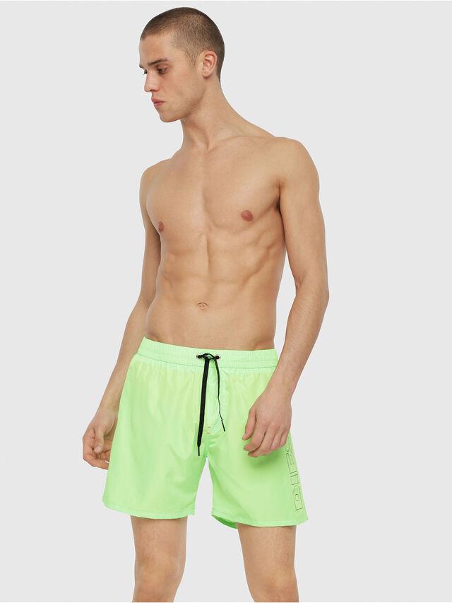 Diesel - BMBX-WAVE 2.017, Green Fluo - Swim shorts - Image 1