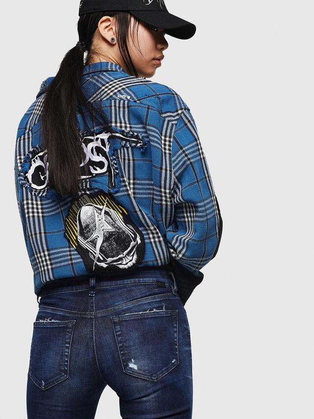 Diesel - Slandy 069IB, Dark Blue - Jeans - Image 4