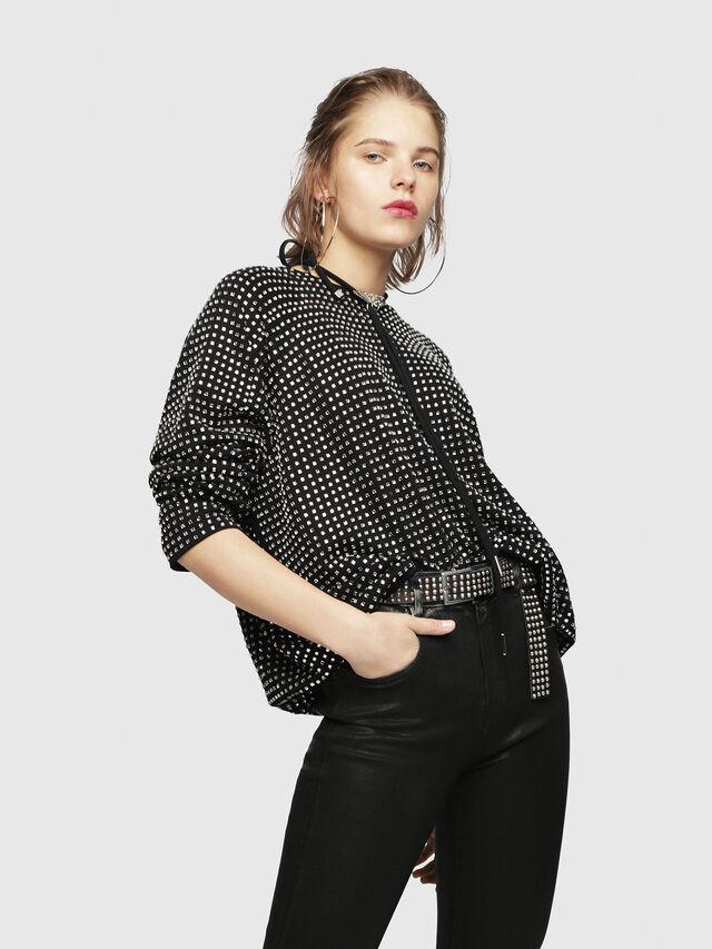 Diesel - F-NEW, Black - Sweatshirts - Image 4
