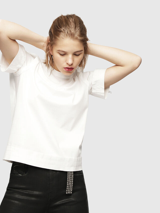 Diesel - T-ROCK, White - T-Shirts - Image 1