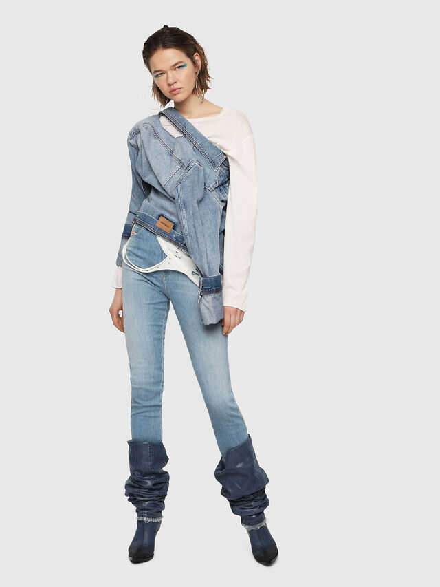 Diesel - Babhila High 081AF, Light Blue - Jeans - Image 5
