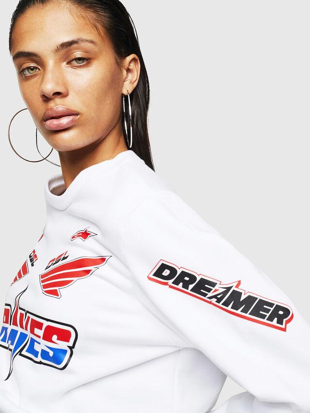 Diesel - ASTARS-F-GIR-A-FL, White - Sweatshirts - Image 4