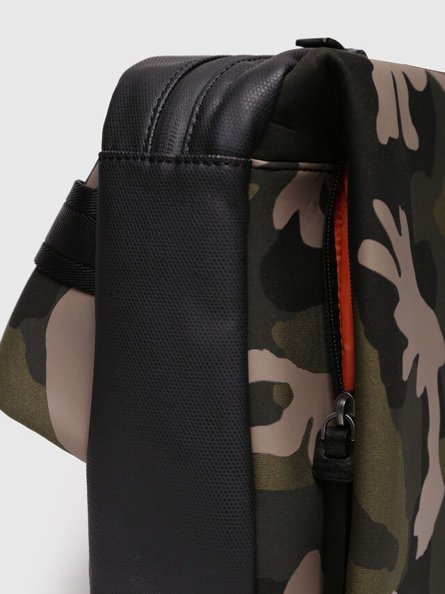 Diesel - F-SUBCAMOU MONO, Green Camouflage - Backpacks - Image 5