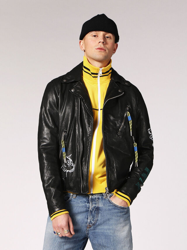 Diesel - L-WILL, Black Leather - Leather jackets - Image 1