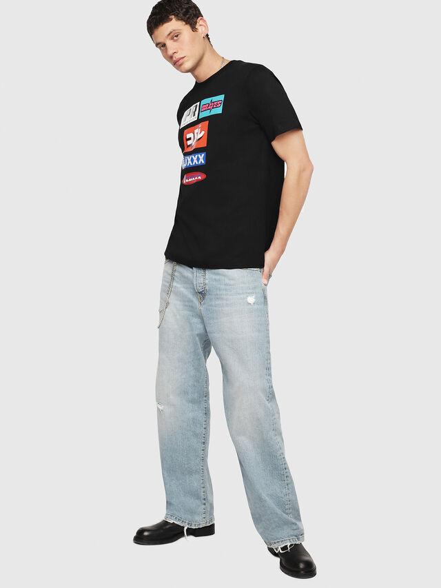 Diesel - T-JUST-YA, Black - T-Shirts - Image 4