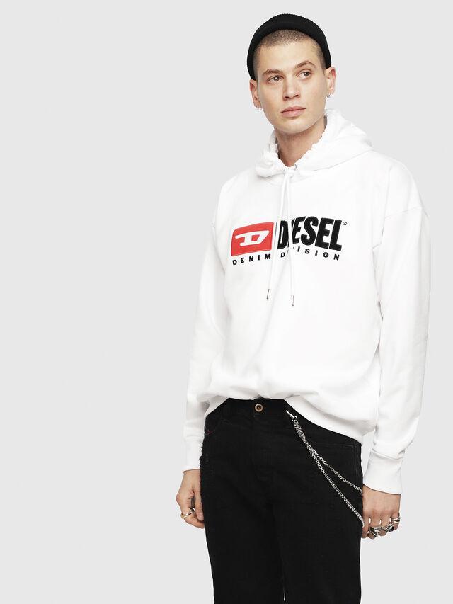 Diesel - S-DIVISION, White - Sweatshirts - Image 1