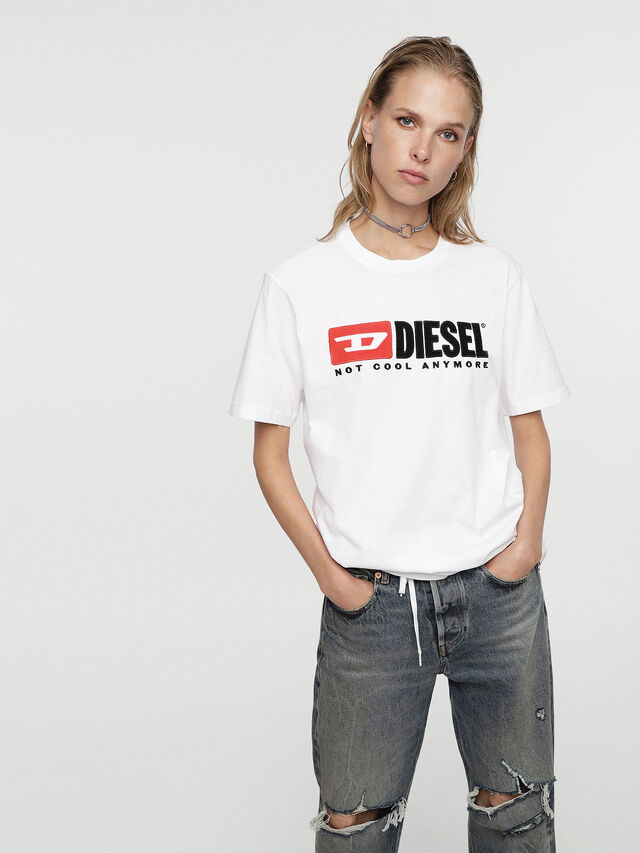 Diesel - HC-T-JUST-DIVISION, White - T-Shirts - Image 3
