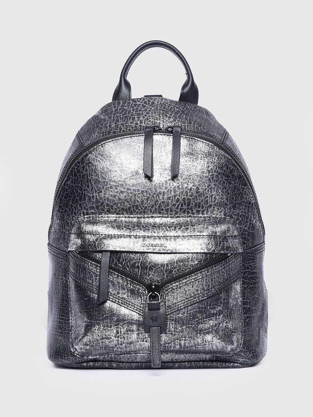Diesel - LE-ONY, Silver - Backpacks - Image 1
