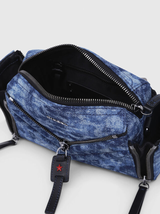 Diesel - LE-ZIPPER CROSSBODY, Blue/White - Crossbody Bags - Image 5