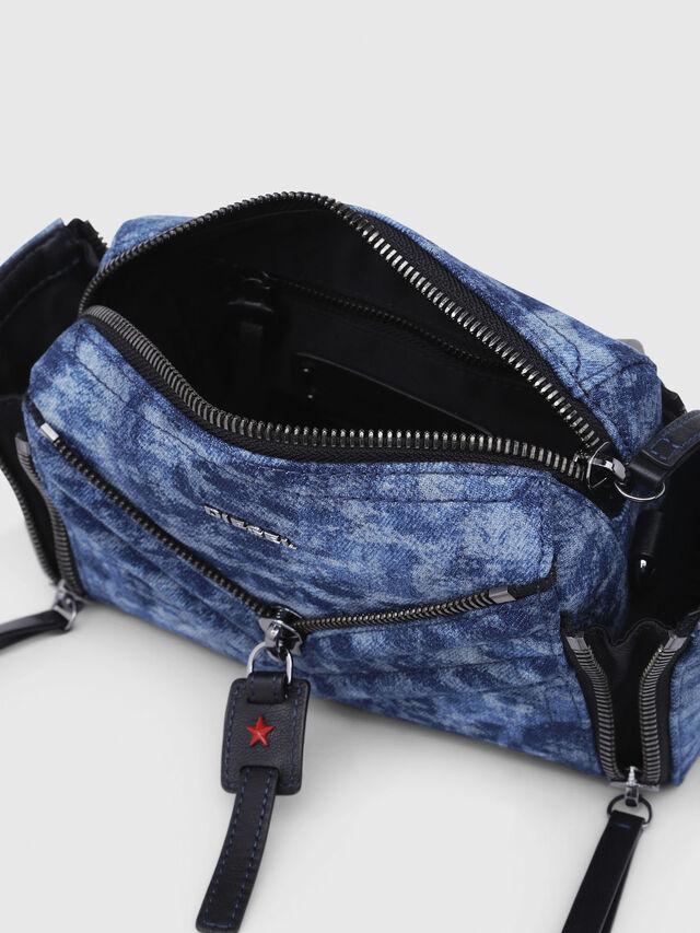 Diesel - LE-ZIPPER CROSSBODY, Blue/White - Crossbody Bags - Image 5