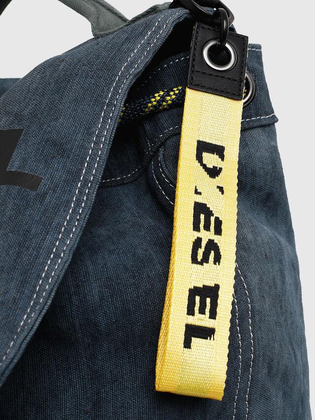 Diesel - VOLPAGO BACK, Blue Jeans - Backpacks - Image 4