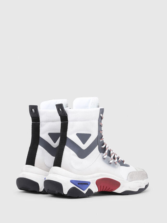 Diesel - S-KIPPER MID LACE, White - Sneakers - Image 3