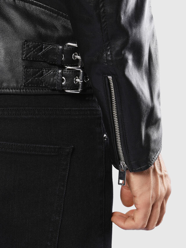 Diesel - L-MARTON, Black - Leather jackets - Image 6