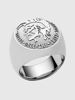 3cad242f9b87 Silver. Stainless steel ring