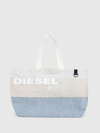 D-THISBAG SHOPPER L, White/Blue - Shopping and Shoulder Bags