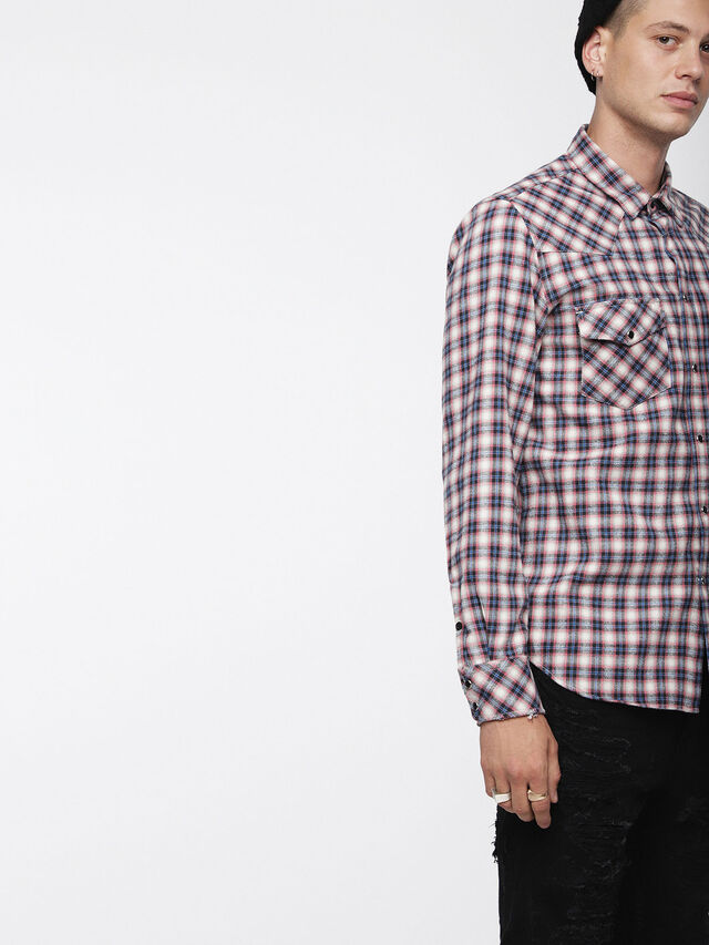 Diesel - S-EAST-LONG-B, Multicolor/White - Shirts - Image 1