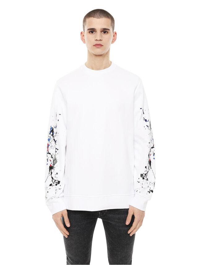 Diesel - SNEILB-SPLASH, White - Sweatshirts - Image 1