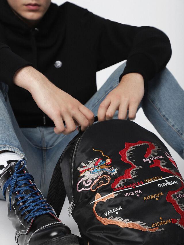 Diesel - M-TOKYO BACK TEKNO, Black/Red - Backpacks - Image 5