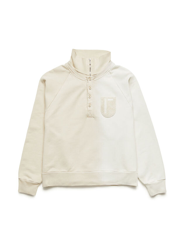 Diesel - GR02-T302, White - Sweatshirts - Image 1