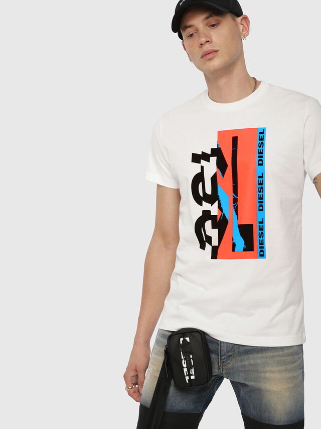 Diesel - T-DIEGO-YA, White - T-Shirts - Image 1