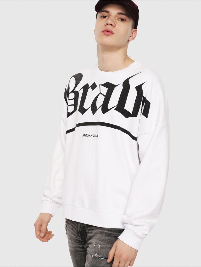 2eea4e2b S-YOSHIOR-Y1 Men: Graphic cotton-fleece sweatshirt | Diesel