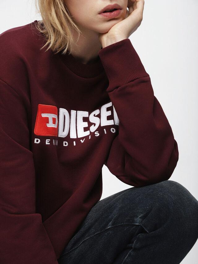 Diesel - F-CREW-DIVISION-FL, Burgundy - Sweatshirts - Image 3