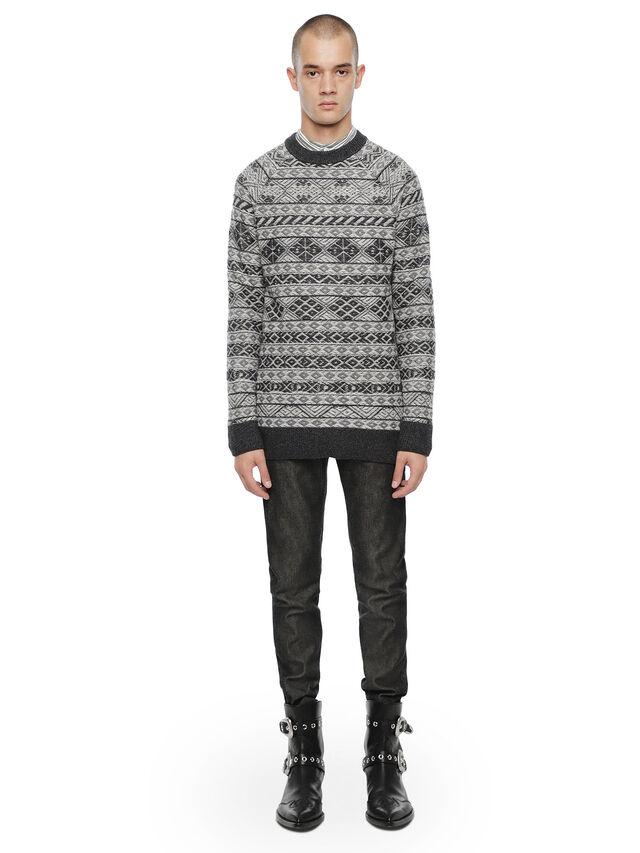 Diesel - KNAPP, White/Grey - Sweaters - Image 4