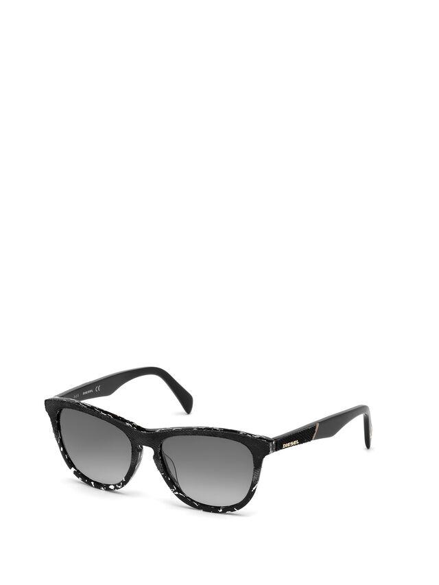 Diesel - DM0192, Black/White - Sunglasses - Image 4