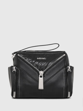 Leather cross body bag with zip