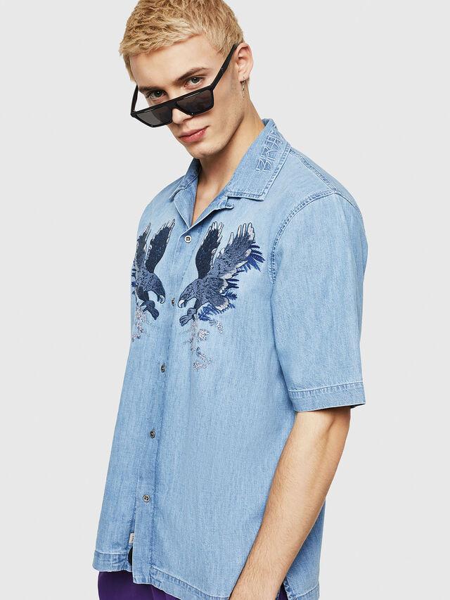 Diesel - D-RASHI, Jean Bleu - Chemises en Denim - Image 1