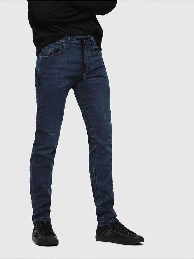 958148dd Diesel - Thommer JoggJeans 0688J, Dark Blue - Jeans - Image 1