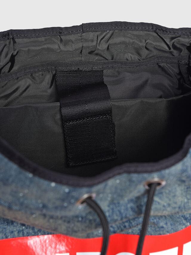Diesel - M-XX BACK, Melange Blue - Backpacks - Image 4