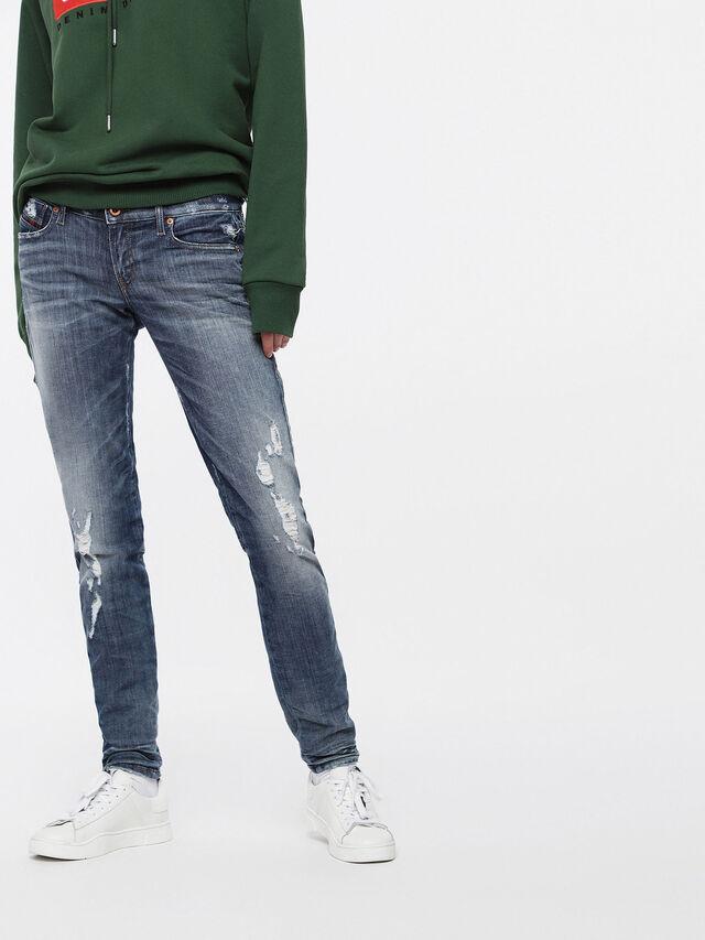 Diesel - Gracey JoggJeans 084YH, Medium Blue - Jeans - Image 1