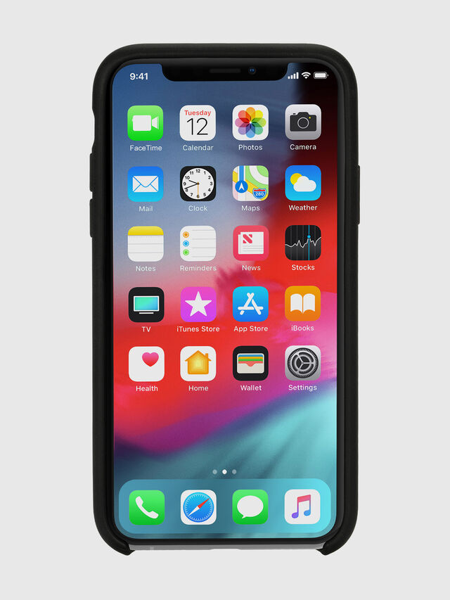 Diesel - DIESEL LEATHER CO-MOLD CASE FOR IPHONE XS & IPHONE X, Black - Cases - Image 4
