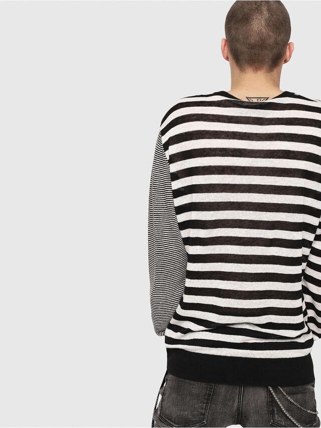 Diesel - K-MICROXX, Black/White - Sweaters - Image 2