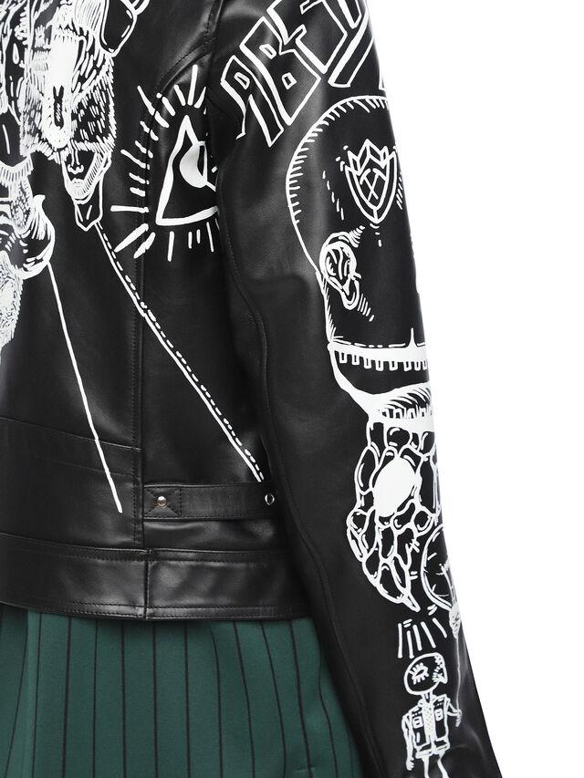 Diesel - LORAGRAPH, Black - Leather jackets - Image 7
