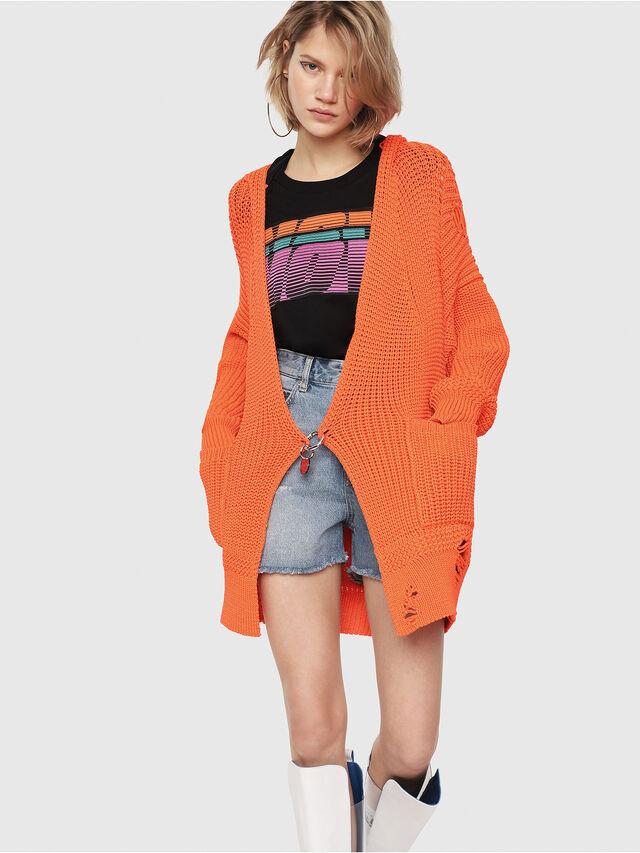 Diesel - M-CRI, Orange Fluo - Sweaters - Image 4