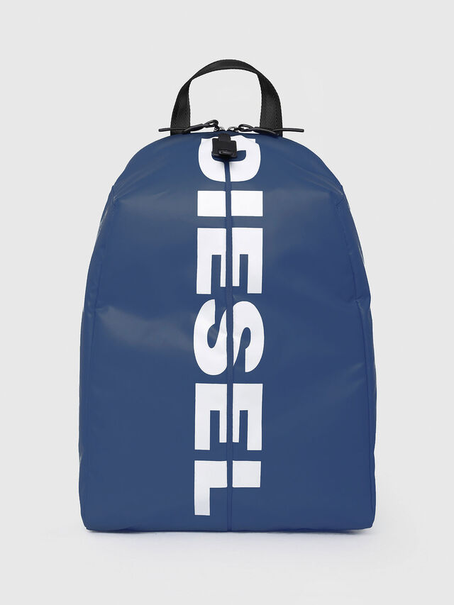 Diesel - F-BOLD BACK, Blue/White - Backpacks - Image 1