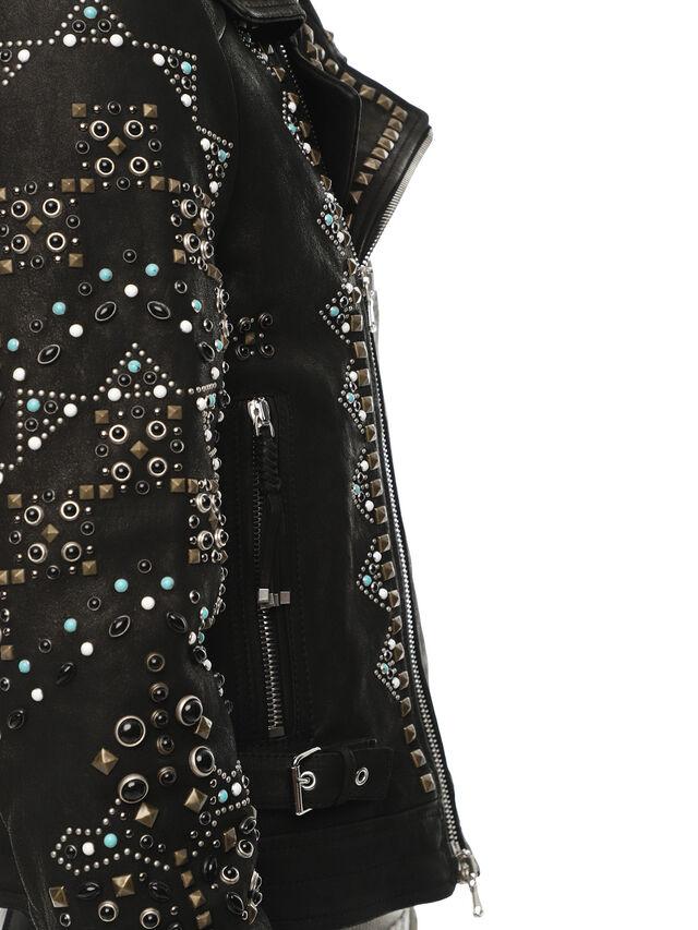 Diesel - LANDITO, Black - Leather jackets - Image 6