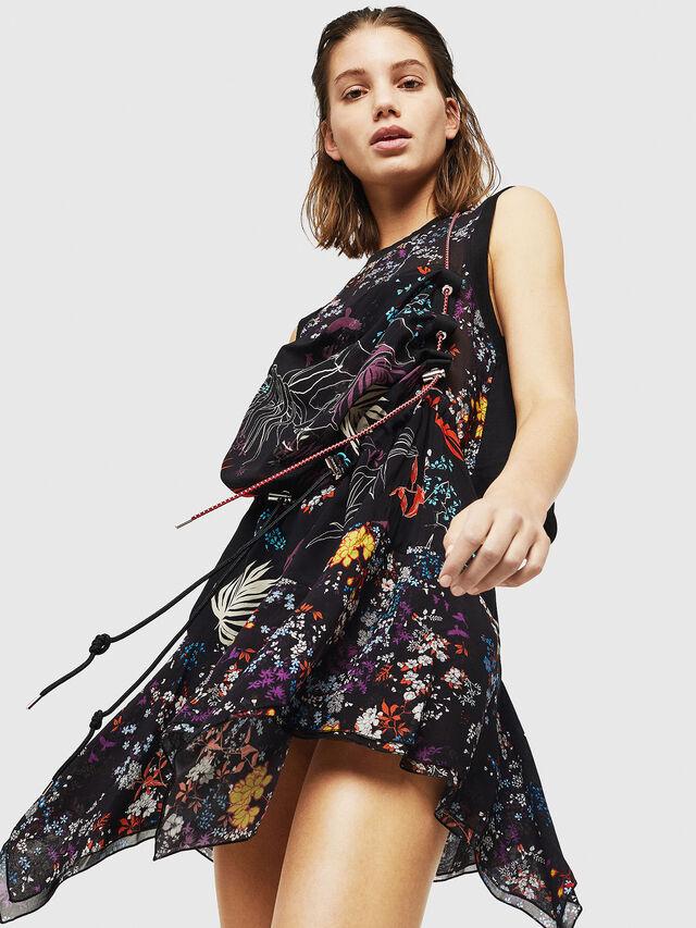 Diesel - D-LYAN, Multicolor/Black - Dresses - Image 1