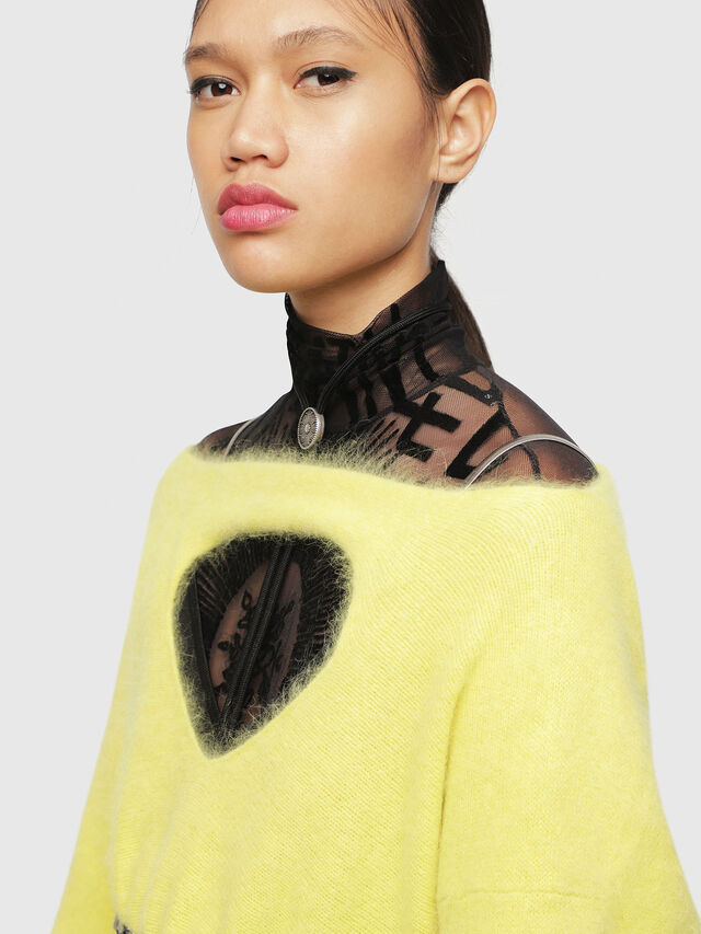 Diesel - M-GIORGIA, Yellow Fluo - Sweaters - Image 3