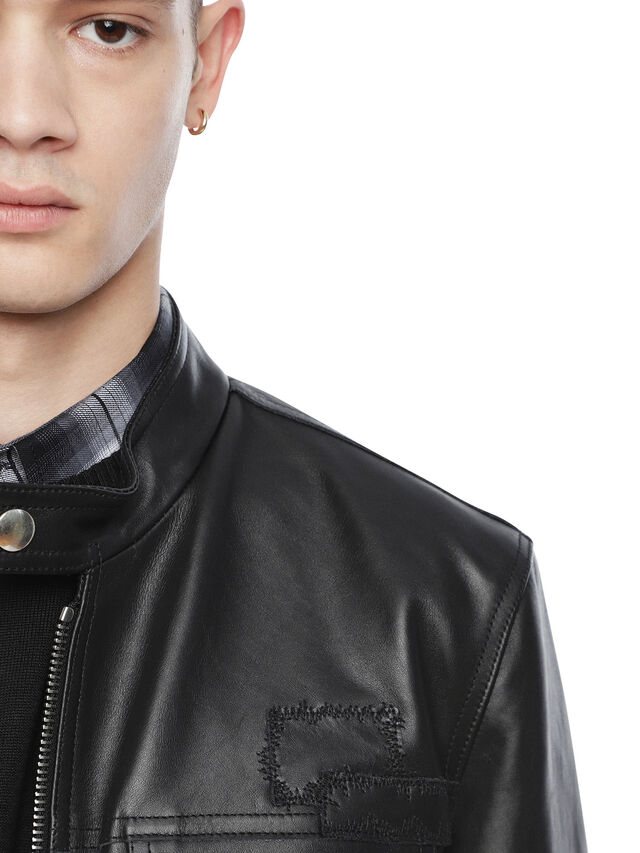Diesel - LANPATCH, Black - Leather jackets - Image 5