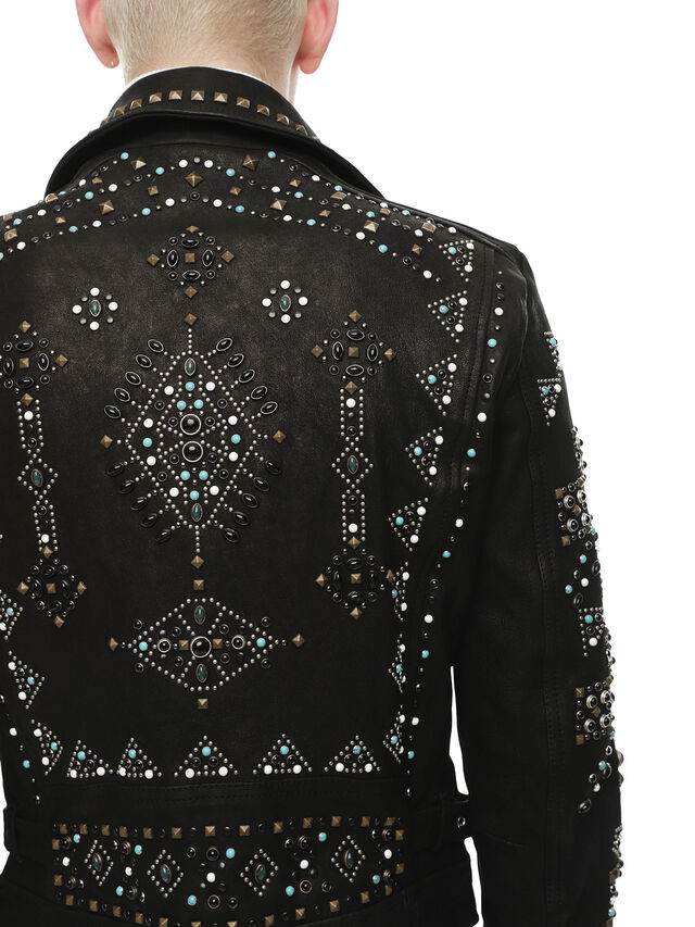 Diesel - LANDITO, Black - Leather jackets - Image 5