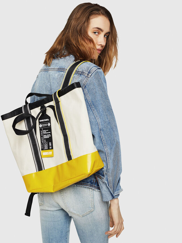 Diesel - F-CAORLY T BACK, White/Black - Shopping and Shoulder Bags - Image 6