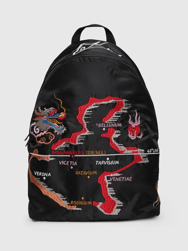 Diesel - M-TOKYO BACK TEKNO, Black/Red - Backpacks - Image 1