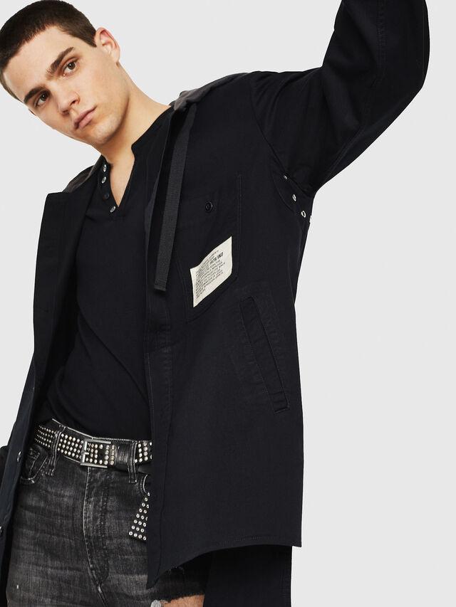 Diesel - S-EIKU, Black - Shirts - Image 4