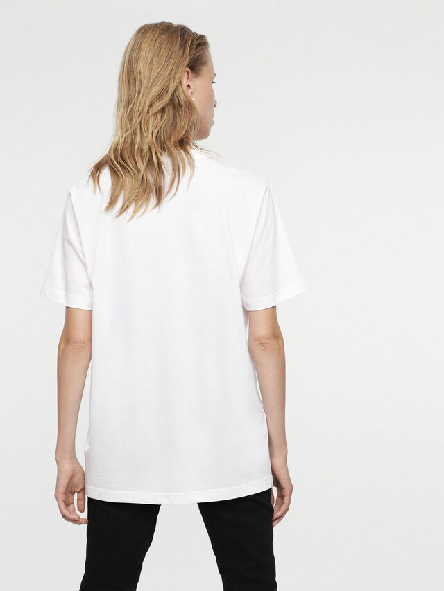 Diesel - HC-T-JUST-DIVISION-A, White - T-Shirts - Image 5